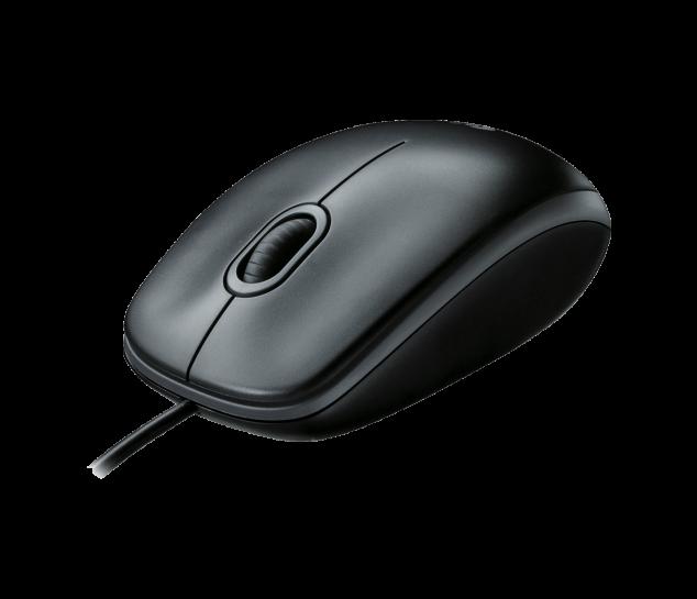 Mouse com fio USB Logitech M100 - Cinza