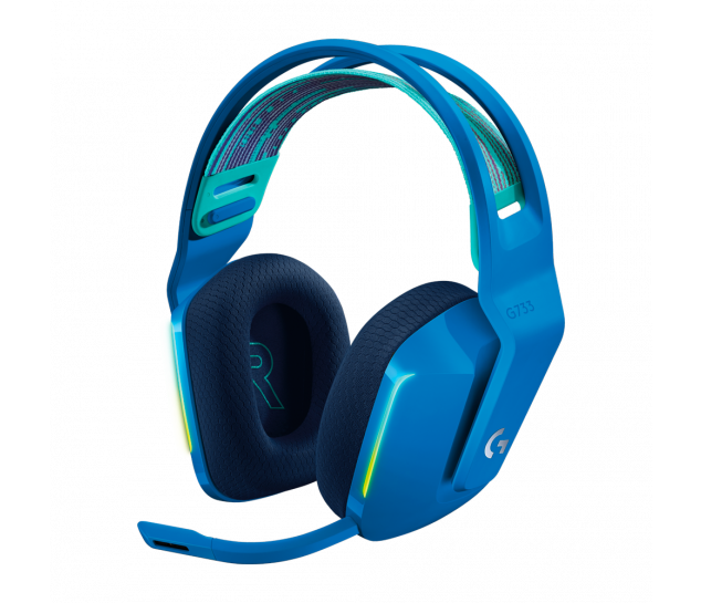 Headset Gamer Sem Fio Logitech G733 7.1 Dolby Surround - Azul