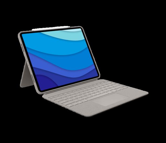 """Capa com teclado e touch pad Logitech Combo Touch para iPad Pro 12.9"""" 5ª geração"""