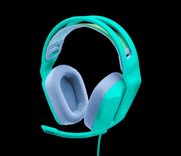 Headset Gamer estéreo Logitech G335 Verde