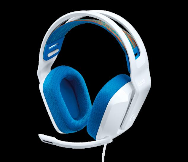 Headset Gamer estéreo Logitech G335 Branco