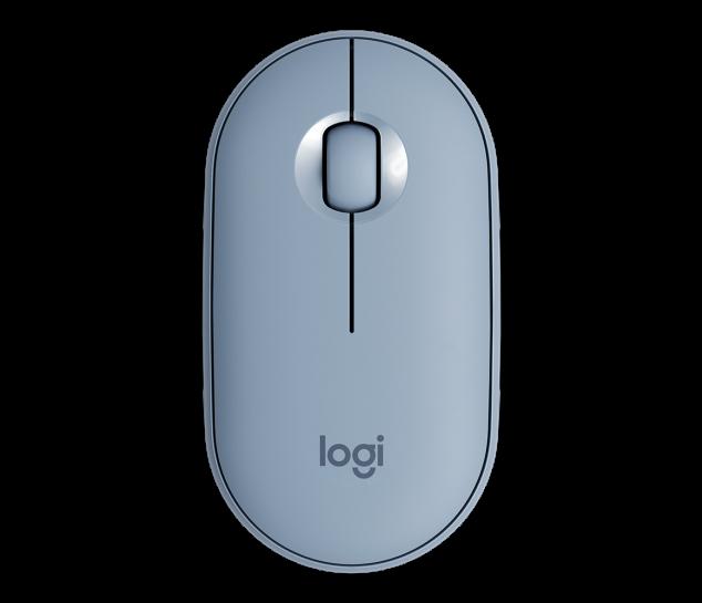 Mouse sem fio Logitech Pebble M350 - Azul