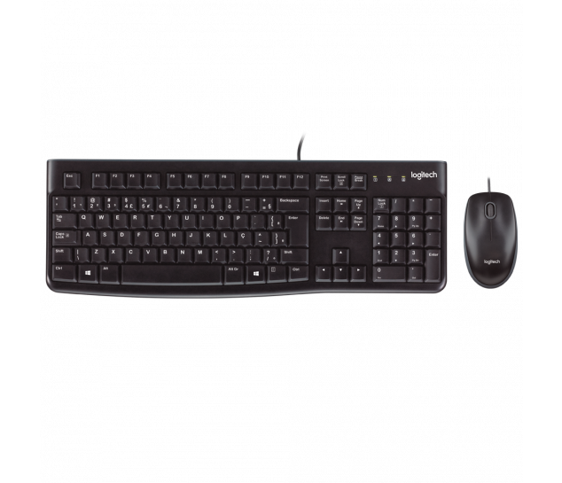 Combo Teclado e Mouse Logitech MK120 - Padrão ABNT2