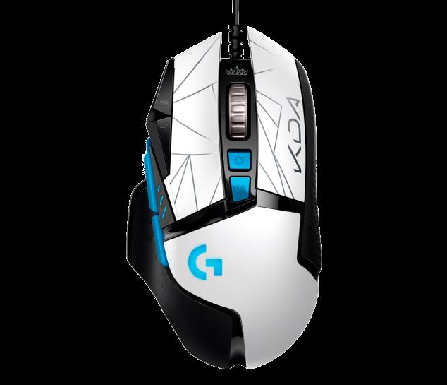 Mouse Gamer Logitech G502 HERO K/DA - Edição Oficial League of Legends KDA